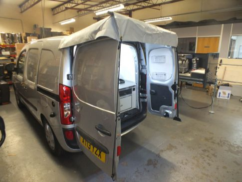 Coffee-van-conversion-citan-awning-unrolled