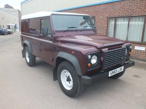 Land Rover Defender before coffee van conversion