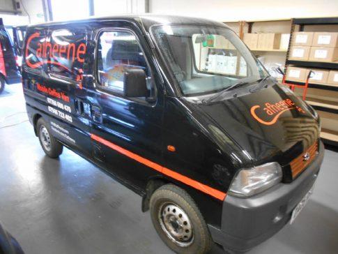 coffee-van-conversion-suzuki-carry-branding-front