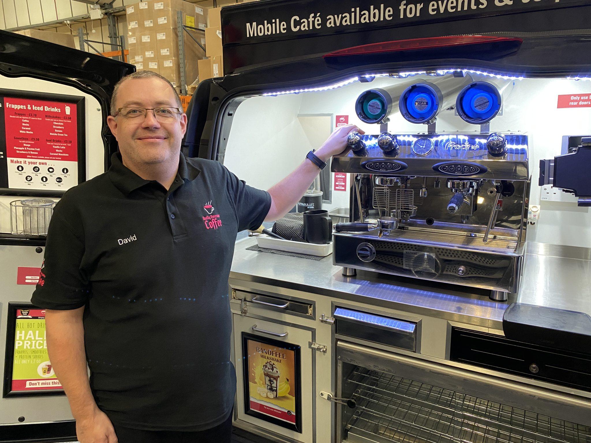 Mobile coffee van Mitcham David